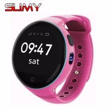 Viscoso S669 S668 Crianças dos miúdos Relógio Inteligente 1.22 Polegada Rodada tela 240*240 GPS Relógio De Pulso Smartwatch SOS Apoio Cartão SIM para IOS