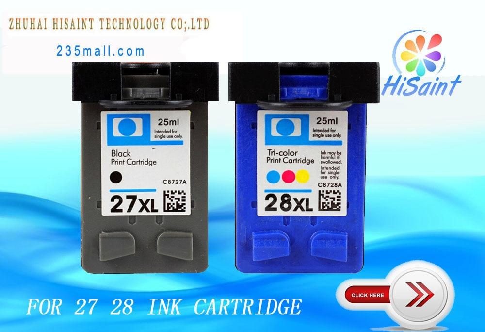 hisaint for HP27 28 ink cartridges for HP 3325 5608 5679 8727 8728 DeskJet 3320/3323/3325/3420/3425/3450/3520/3520V/3550/3650hisaint for HP27 28 ink cartridges for HP 3325 5608 5679 8727 8728 DeskJet 3320/3323/3325/3420/3425/3450/3520/3520V/3550/3650