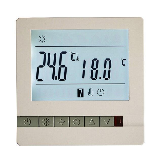 หน้าจอ LCD Thermostat ความร้อนชั้นระบบ Thermoregulator AC200 240V อุณหภูมิ CONTROLLER
