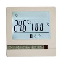LCD ekranlı termostat sıcak yerden ısıtma sistemi termoregülatör AC200 240V sıcaklık kontrol cihazı