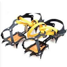 Hot 1 Pair 10 Teeth Ice Crampon Adjustable Anti-Slip Gripper Cleats Shoes Boot Grip Crampon Chain Spike Snow for Hiking Climbing
