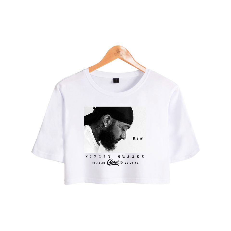 2019 Rep nipsey hussle Print Summer Shorts T shirts Women Sexy Clothes New Hot Sale Casual THISRT Harajuku Plus Size xxl in T Shirts from Women 39 s Clothing
