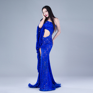 Image 4 - Modal Performance Belly Dance Lace Elegant Inclined shoulder Girl Dress Belly Dance Dresses Belly Dance Costumes Comfortable