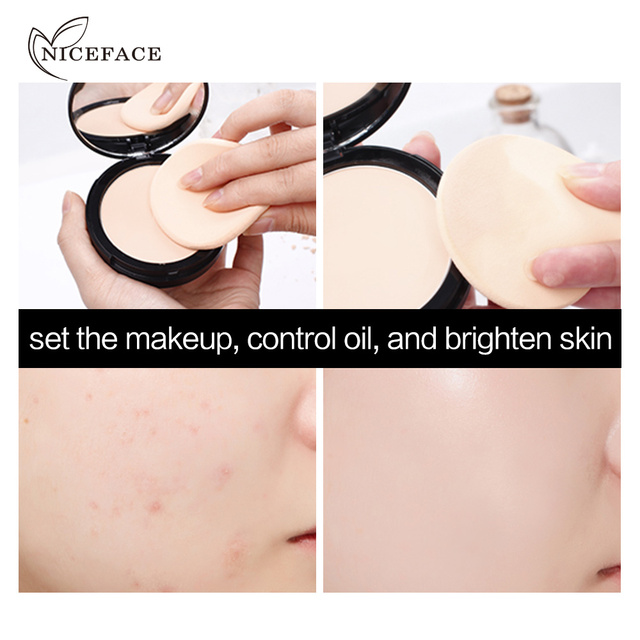 New NICEFACE Makeup Pores Cover Hide Blemish Face Pressed Powder Oil-control Lasting Base Concealer Powder Cosmetics 5