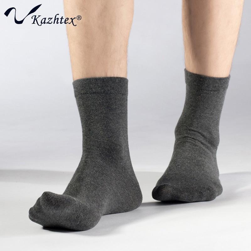 C316221 Ensfarvet vinter stil Sølvfiber sokker Herre high-end Kjole sokker Antibakteriel deodorisering 3 par = 1 parti