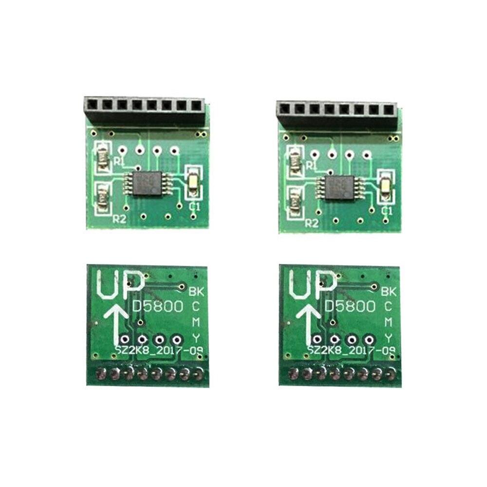 1set 4 pcs high quality D5800 decoder chip decoder printer chip board decoder permanent chip board for HP 5800 D5800 printer