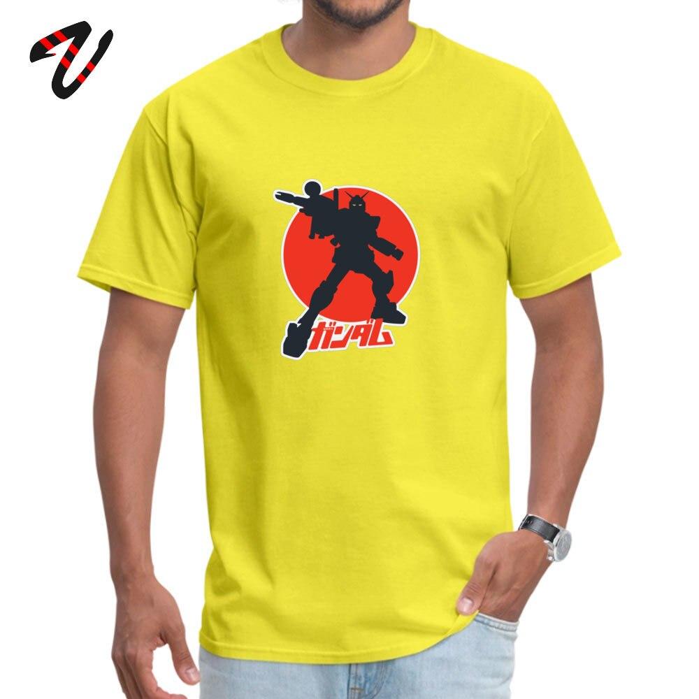 Geek Its a GUNDAM Crew Neck T-shirts Summer Tops Shirts Short Sleeve for Men Rife 100% Cotton Design Top T-shirts Its a GUNDAM 14462 yellow