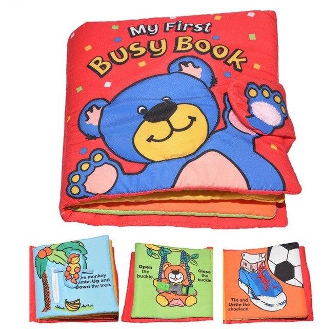 Candice guo! mais recente chegada de multi-toque livro de pano urso de brinquedo macio do bebê meu primeiro livro ocupado criativo dom 1 pc