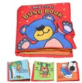 Candice guo! newest arrival soft baby toy multi-touch cloth book bear my first busy book creative gift 1pc