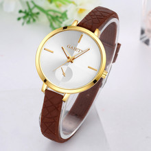 Reloj 2017 GAIETY New Arriveal Girls Watch Style Leather-based Band Analog Quartz Spherical Wrist Watches relogio masculin 17mar22