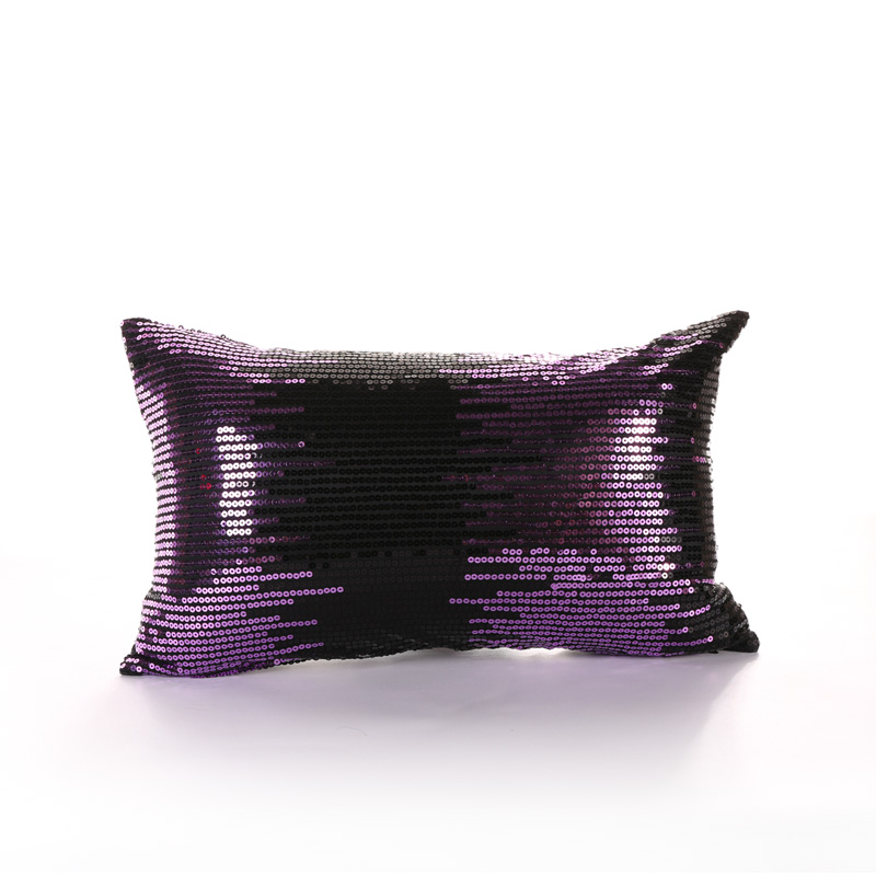 PANFELOU 30*50cm environmental purple sequins meteor shower Cushion Cover for sofa livingroom bedroom