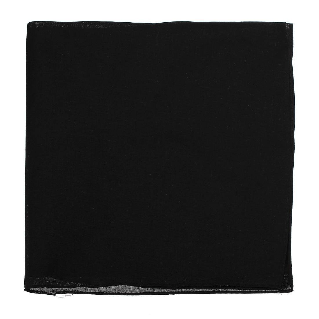 MYPF-Beanies Summer Cotton Beanie headscarf scarf cloth Women Men Unisex 54x54 Black