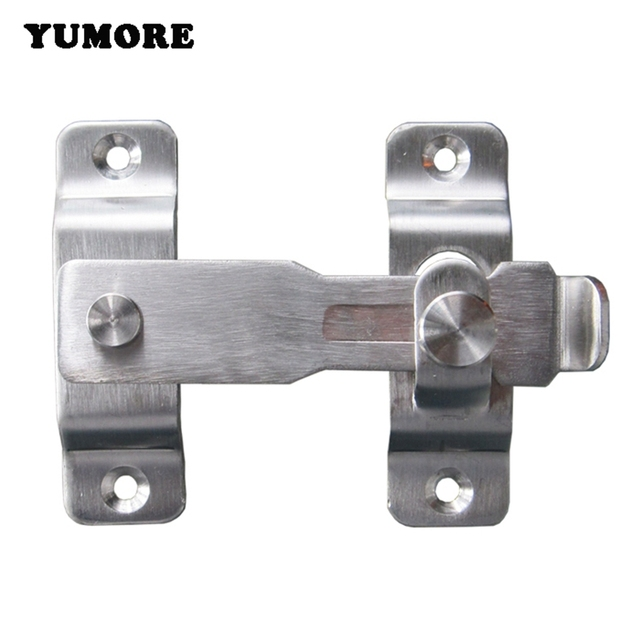 YUMORE 2PCS Hasp Latch Lock Sliding Door Latches Stainless Steel Door Bolts Action Hardware Free Shipping  sc 1 st  AliExpress.com & YUMORE 2PCS Hasp Latch Lock Sliding Door Latches Stainless Steel ...