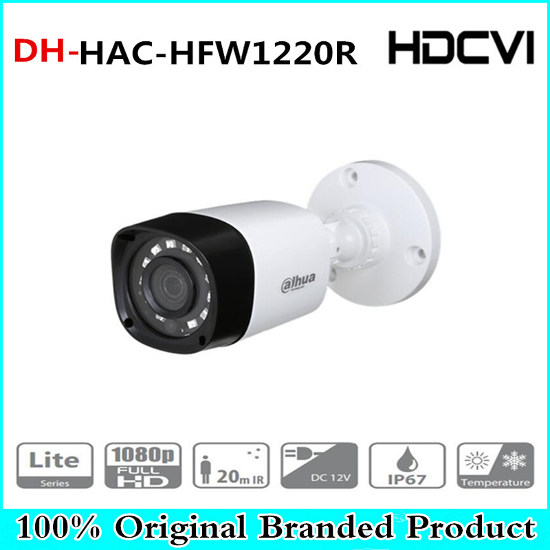 цены DH Wholesale HAC-HFW1220R 2MP HDCVI IR Bullet Camera Smart IP67 1080P 2MP HD CCTV Lite Series DH-HAC-HFW1220R
