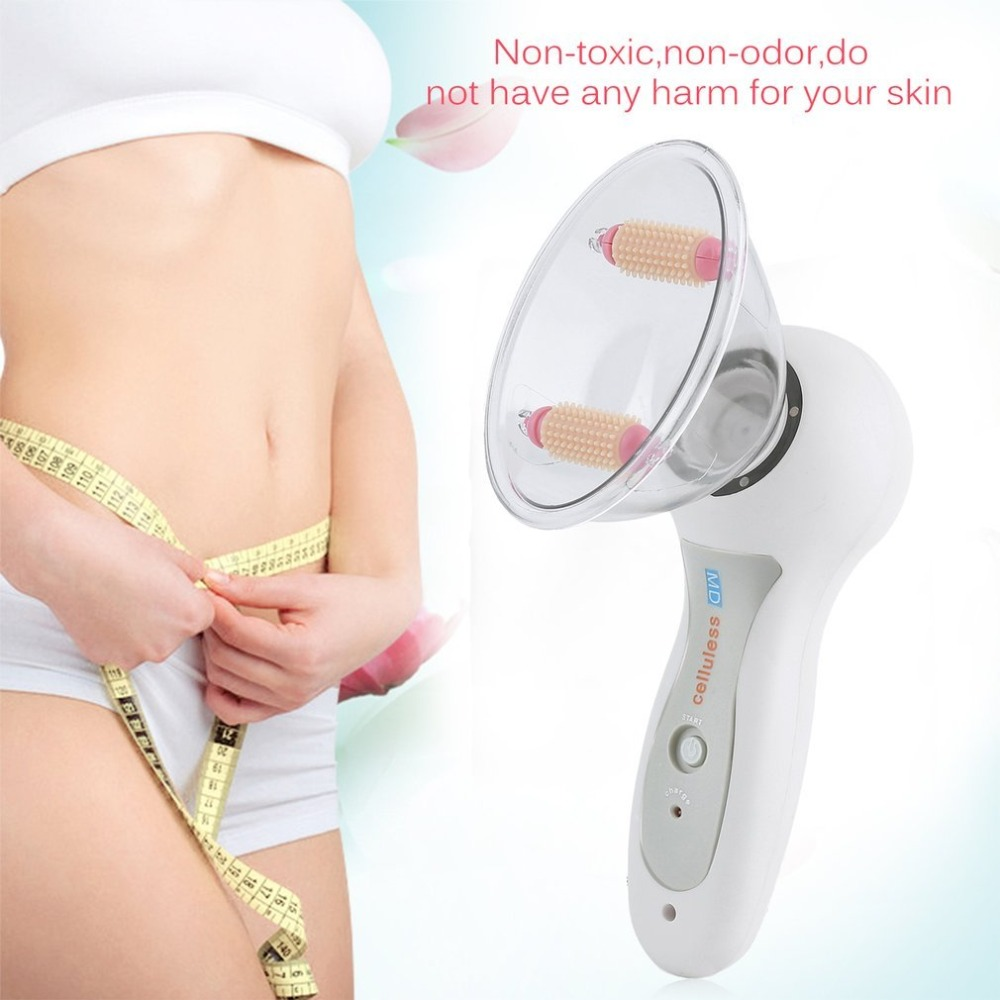 Body Massage Vacuum Anti-Cellulite Roller Massaging Slimmer Device Fat Burner Therapy Treatment Loss Weight Tool US Plug health care loss weight 3d electric full body massager roller anti cellulite massaging slimmer device fat burner spa machine