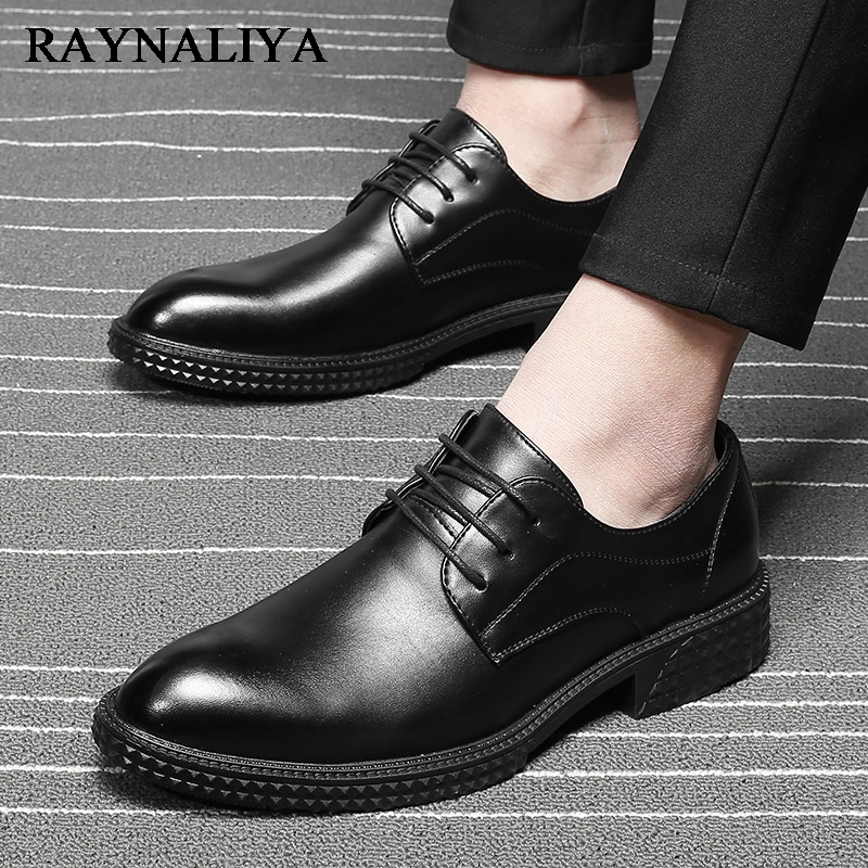 Big Size 3-45 Fashion Genuine Leather Shoes Business Oxfords Flats Working Causal Loafers Men Dress Wedding Shoes LMX-A0043