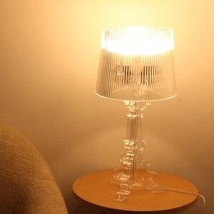 Image 3 - אקריליק מנורת שולחן ליד מיטת גביש מנורת Led שולחן מנורת Lamparas De Mesa Para El Dormitorio Tafellamp סלון חדר שינה מנורה e27