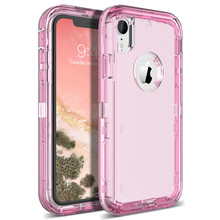 c610fdd5007 Funda dura Yokata para iPhone 7 6 6 s Plus X Xs Max 360 funda transparente  PC parachoques lindo Bling fundas para iPhone XR 8 .