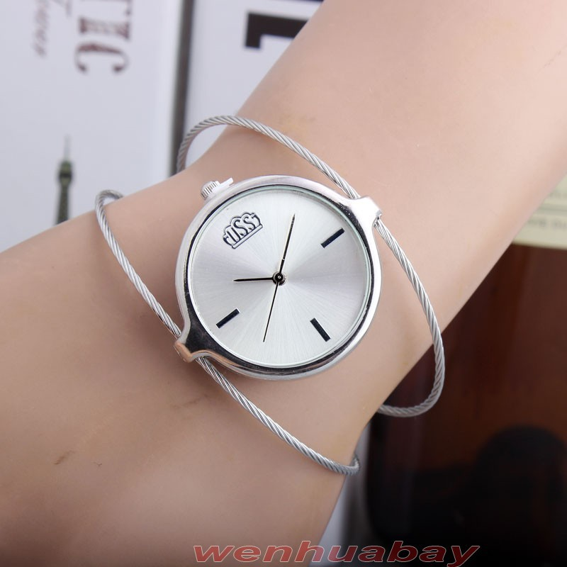 купить Luxury Women Watch Bracelet Bangle Top Brand Wrist Watches For Women 2017 Fashion Dress Ladies Quartz-watch Silver Rose Gold по цене 322.99 рублей