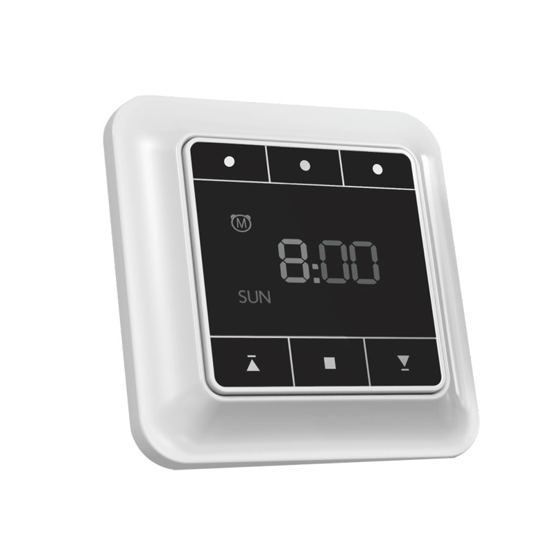 Universal wireless LCD timing remote control wall switch smart home automatic curtain electric tubular motor electric