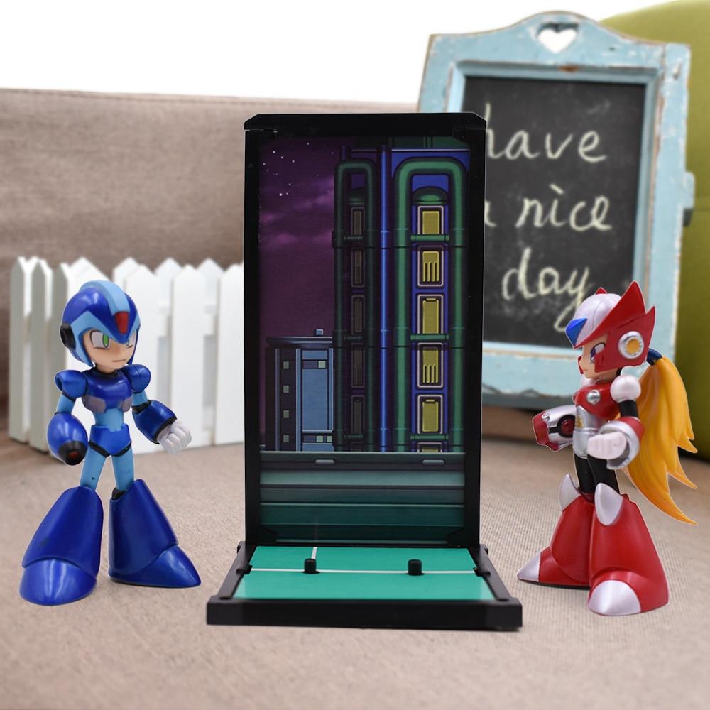 2 Sets/lot 4'' Mega Man Figure Toy Megaman Rockman Blue 016 Red 017 Rokkuman Model Dolls Anime Figure Nendoroid Actions Figure