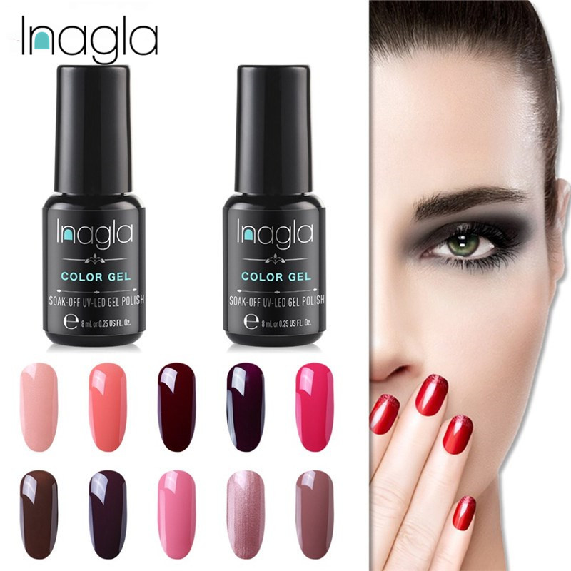 Gel Nail Polish For Sale: Inagla HOT SALE Nude Series 32Color 8ML Gel Nail Polish