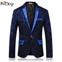 HCXY Brand 2018 spring Fashion Mens Blazer Commerce Casual Slim Fit Prom Dress Blazer Men Stage Wear Blazers Male Suit Jacket