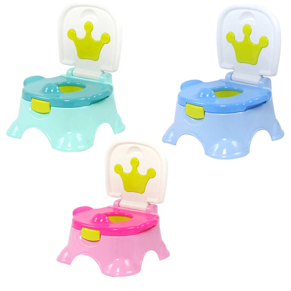 Baby Cartoon Crown Training Toilet Potty Girl Boys Travel Carrying Urinal Pee Toilet Trainer Penico Babies Girl Bathroom Urinal