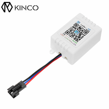 KINCO 3 Pins DC5-12V 28mA 20M Bluetooth APP Remote Control Smart IC LED Controller Smart Home for WS2811 WS2812 RGB Strip Light