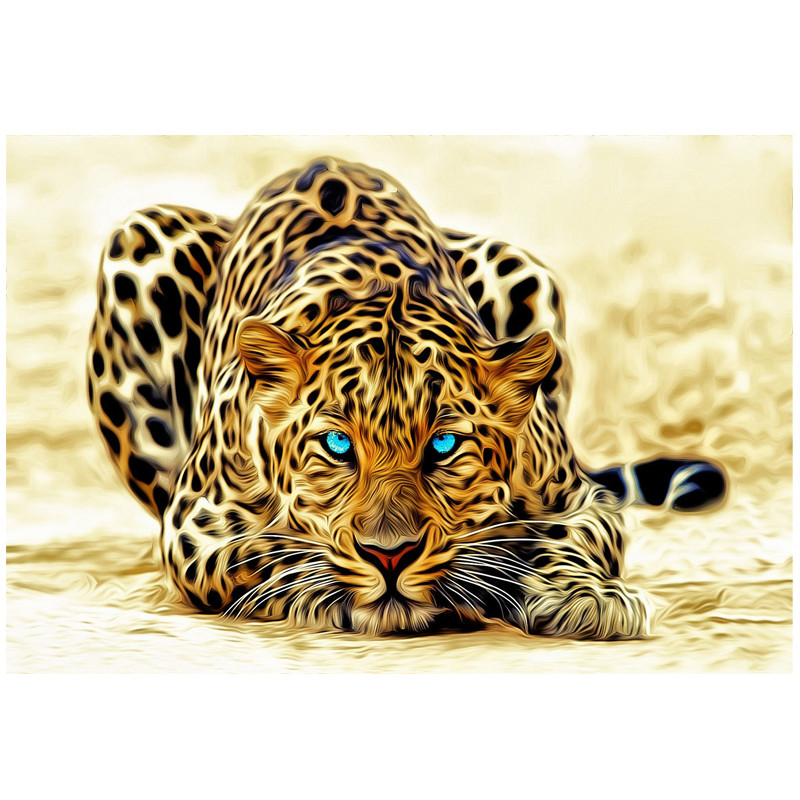 Free Shipping Hot Sell Modern Wall Painting Animal The Cheetah Leopard Home Decor Canvas Painting Art