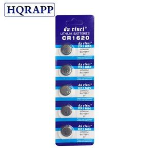 Cheap 5pcs/Lot CR1620 1620 ECR1620 DL1620 280-208 3V Cell Battery Button Battery,Coin Battery lithium battery For Watches,clocks