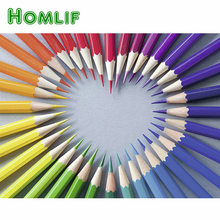 HOMLIF Diamond Painting Heart Paint With Diamond Full Square Drill Diamond Mosaic Pencil Embroidery Cartoon Decor Home Stickers(China)