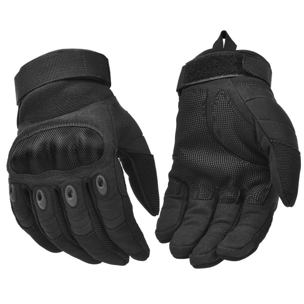 A Pair Motorcycle Gloves Full Finger Outdoor Sport Racing Fiber PU Leather Anti Skid Gloves