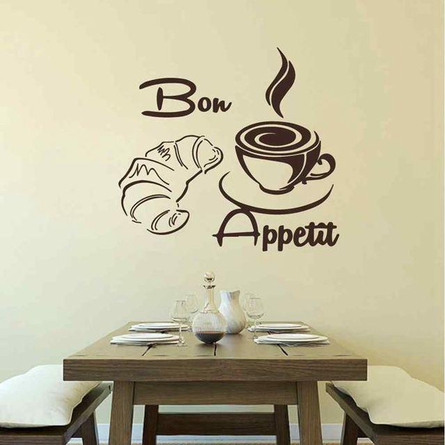 BATTOO Bon Appetit Sticker Croissant Café Tasse Cuisine Wall Sticker ...