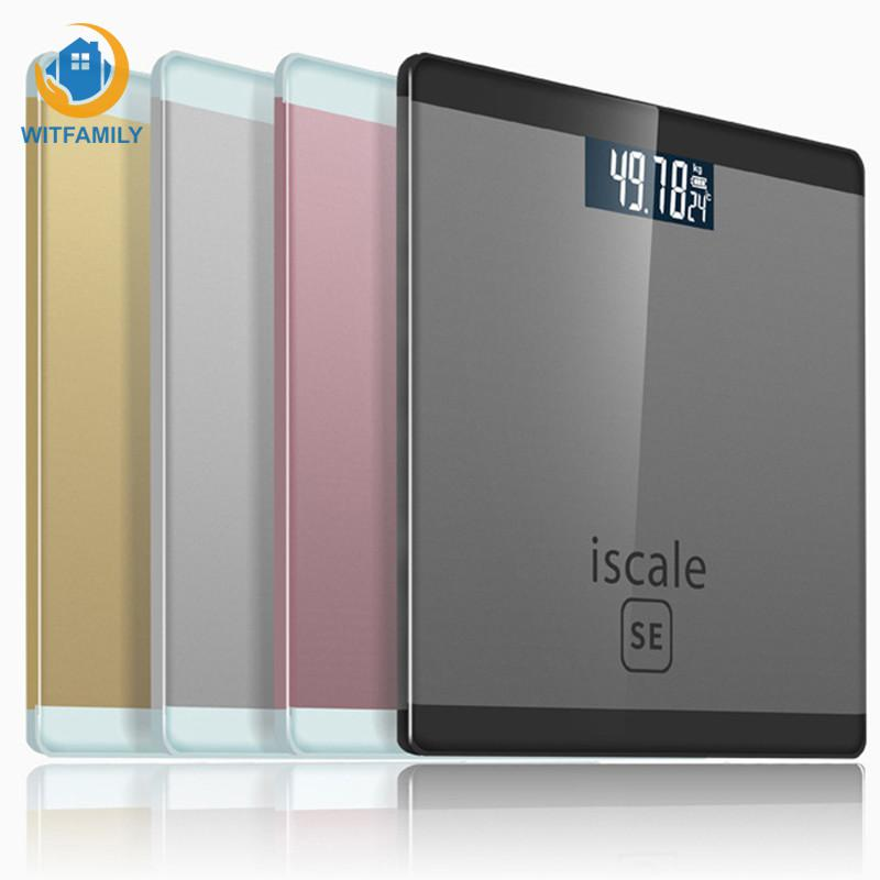LCD Display Floor Scales 180kg/50g Smart Bathroom Personal Floor Body Scale Electronic Scales Household Digital Weight Scale