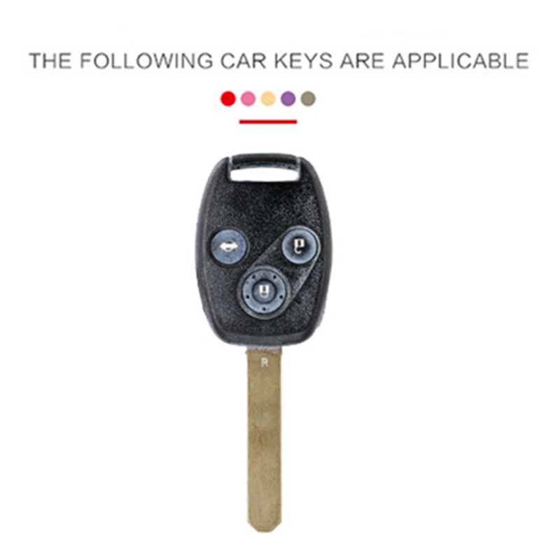 2 3 Buttons Remote Carbon Leather Car Key Case Cover Shell For Honda CIVIC JAZZ Pilot Accord CR V Holder in Key Case for Car from Automobiles Motorcycles
