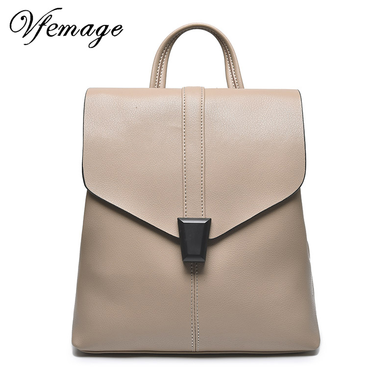 Vfemage Cow Leather Backpack Women Shoulder Bags Female Genuine Leather Backpacks Travel Back Pack Ladies Bagpack Mochils MujerVfemage Cow Leather Backpack Women Shoulder Bags Female Genuine Leather Backpacks Travel Back Pack Ladies Bagpack Mochils Mujer