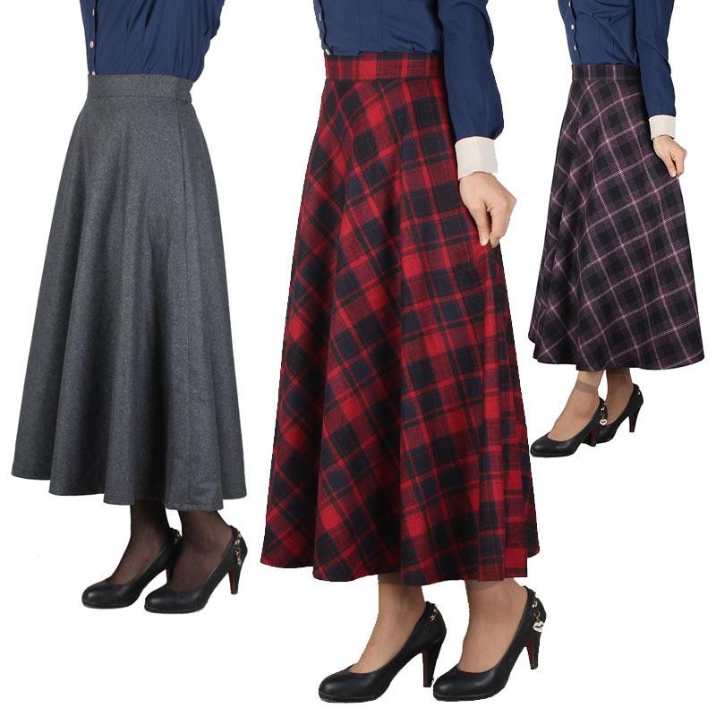 Long Plaid Skirt 118
