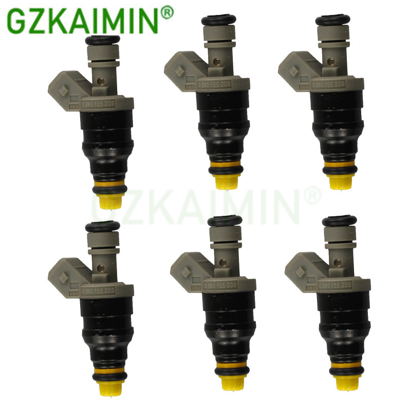 SET OF 6 High quality new Fuel Injector nozzle 0280155209 0000787323 for Benz SL320 S320 V320