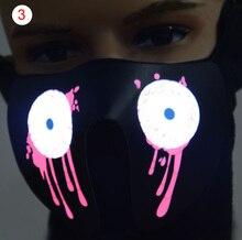 Waterproof Light Up Flashing Luminous Face Masks