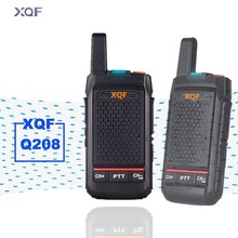 Xqf mini interfone walkie talkie, q208, portátil, para áreas externas, hotel beauty salon