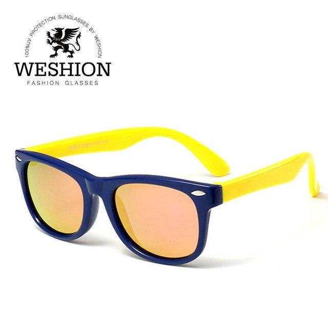 Niños Gafas de sol polarizadas del remache niños niño niña pequeño ...