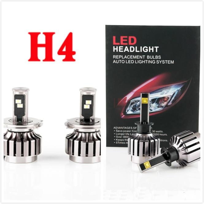 2016 nouveau H4 2 pièces 30 W H4 voiture phare LED Kit LED ampoule de remplacement brouillard phare lumière 6000 K 12 V 24 V pas besoin de Ballast relais