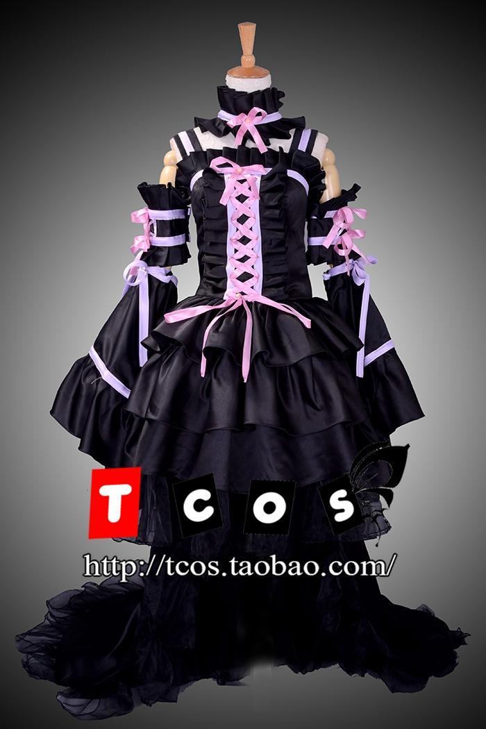 Чобиты унисекс черный Chii Косплэй костюм вечернее платье