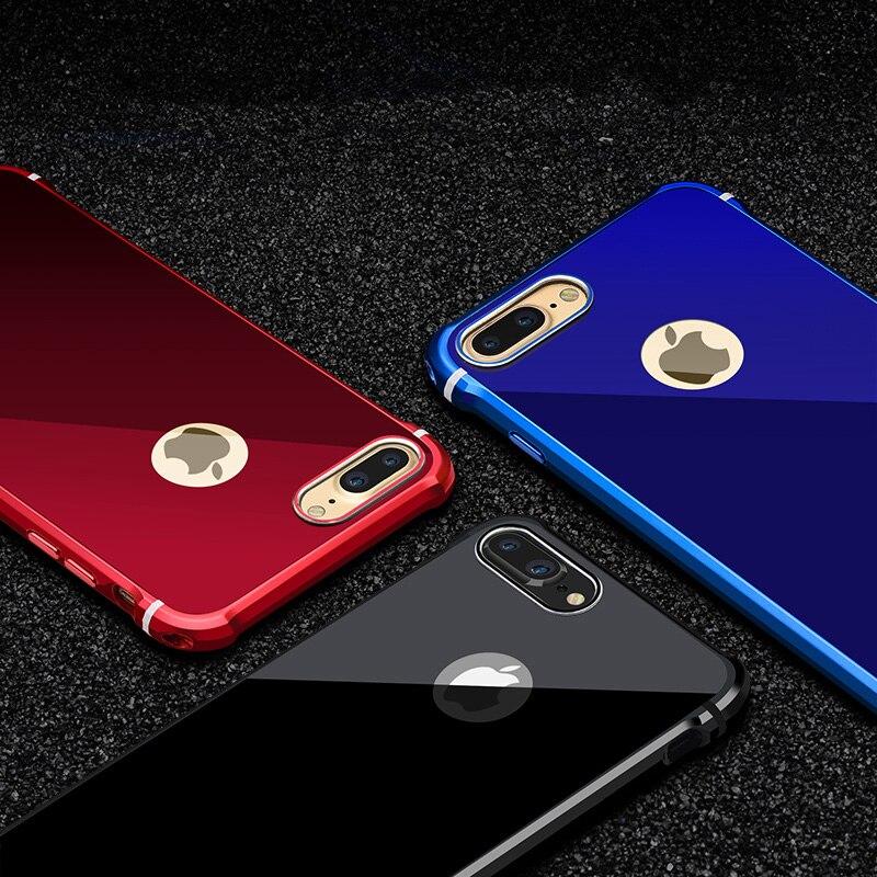 Untuk Apple iPhone 7 Kasus Merek Mewah Keras Glitter Logam Aluminium - Aksesori dan suku cadang ponsel - Foto 5