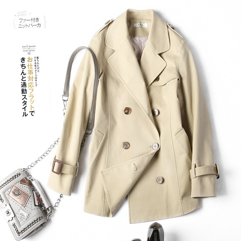 Coupe Style Double Manteau De Femme Angleterre 7610 Coton Feminino Trench vent 2018 Casaco Breasted Shuchan Femmes coats Kaki nvm0wON8