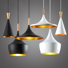 Artpad White Black Modern Hanging Pendant Lights Metal Sconces 1 or 3 heads E27 LED Dining Room Lamp Restaurant Hall Hotel Decor artpad white black modern design metal pendant lights for dining room kitchen e27 base bird cage retro pendant lamp bar light