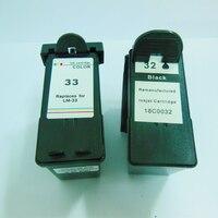 2 PK Black Color Ink Cartridge For Lexmark 32 33 For Lexmark P315 P4330 P4350 P450