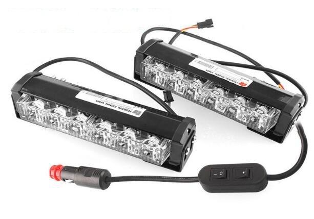 Higher star DC10-30V,2units 6W led grill warning lights,strobe emergency lights,headlight,waterproot(2units/1set)