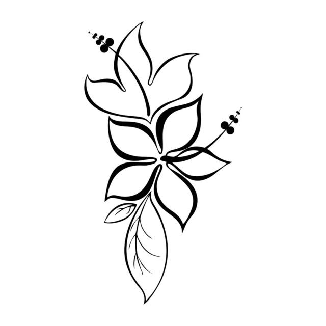 Cute Black Flower Sticker